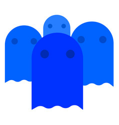 ghost flat icon vector image