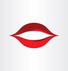 Girl mouth kiss lips icon vector