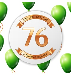 Golden number seventy six years anniversary vector