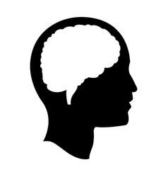 head brain mind idea creativity pictogram vector image