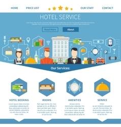 Hotel Service Page Design vector