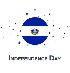 Independence day of el salvador patriotic banner vector
