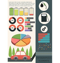 Infographics of a car vector image