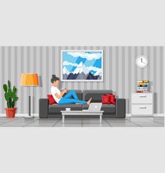interior modern living room vector image