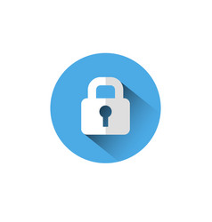 lock icon blue padlock protection and security vector image