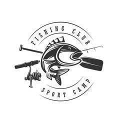 logos on a fishing theme fishing club vector image