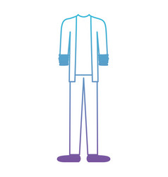 male clothes with sport jacket and pant and shoes vector image