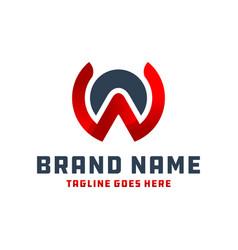 monogram logo letter wa vector image