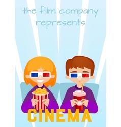Moviegoers to the cinema vector image