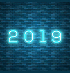 new 2019 year perfect for vector image