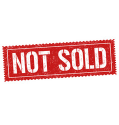 not sold sign or stamp vector image