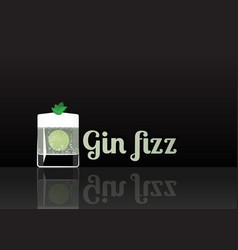 official cocktail icon the unforgettable gin fizz vector image