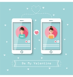 Online dating via social network vector