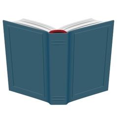 Open hardcover book vector