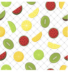 pattern background with fruits seamless - design vector image