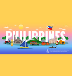 Philippines horizontal vector