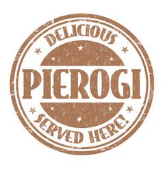 pierogi grunge rubber stamp vector image
