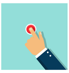 Pressing the red button the courage and determina vector