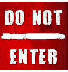 Red do not enter sign vector