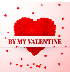 red valentines heart valentines composition vector image