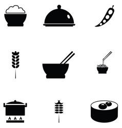 Rice icon set vector