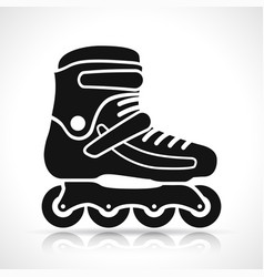 roller skate on white background vector image
