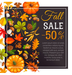 seasonal autumn sale banners vector image