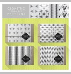 Set geometric seamless pattern 7 vector