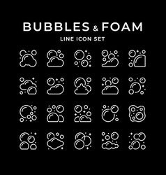 Set line icons bubbles and foam vector