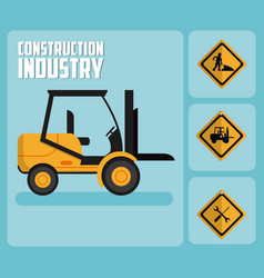 set of construction roadsign icons vector image