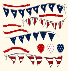 set of patriotic elements vector image