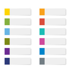 Set of sticky note paper sheets isolated vector