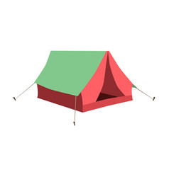 set of tourist tents collection camping tent vector image