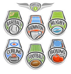 set sports logo vector image