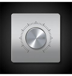 Silver dial vector
