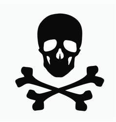 skull and bones - a sign of danger vector image