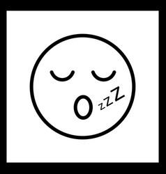 Sleep emoji icon vector