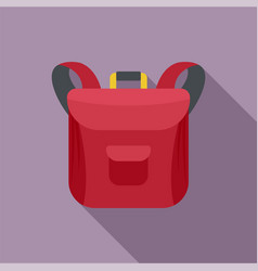 small backpack icon flat style vector image