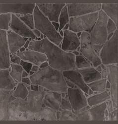 Stone or irregular slate wall floor vector