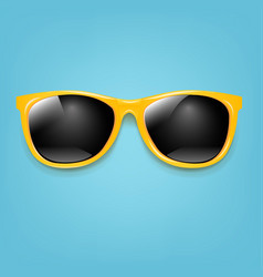 summer sunglasses with mint poster vector image