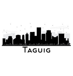 Taguig philippines skyline black and white vector