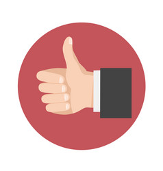 thumbs up icon symbol in flat style vector image