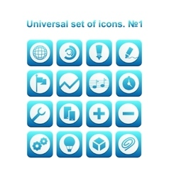 Universal set of icons vector
