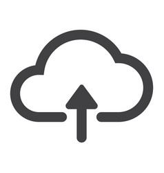 upload to cloud glyph icon web and mobile vector image