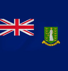 virgin islands waving flag vector image