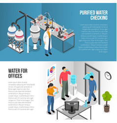 water purification banners vector image