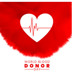 World blood donor day concept background with vector
