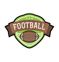 american football emblem badge vector image vector image