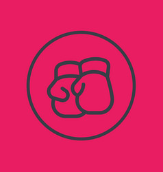 boxing gloves line icon in circle vector image vector image