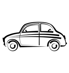 Car freehand drawing icon black and white vector image vector image
